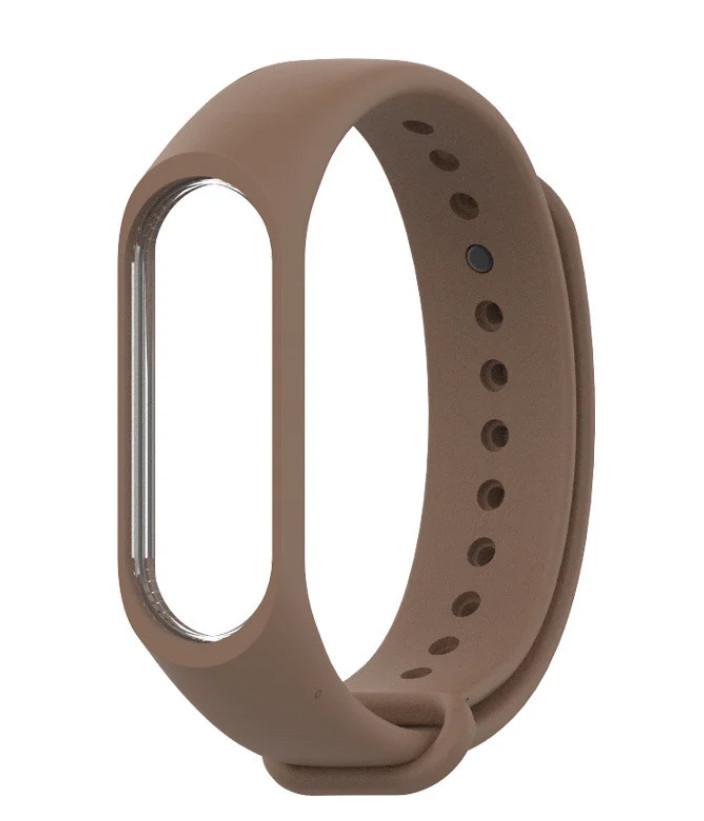 Ремешок для фитнес - трекера Xiaomi Mi Band 3/4 Коричневый