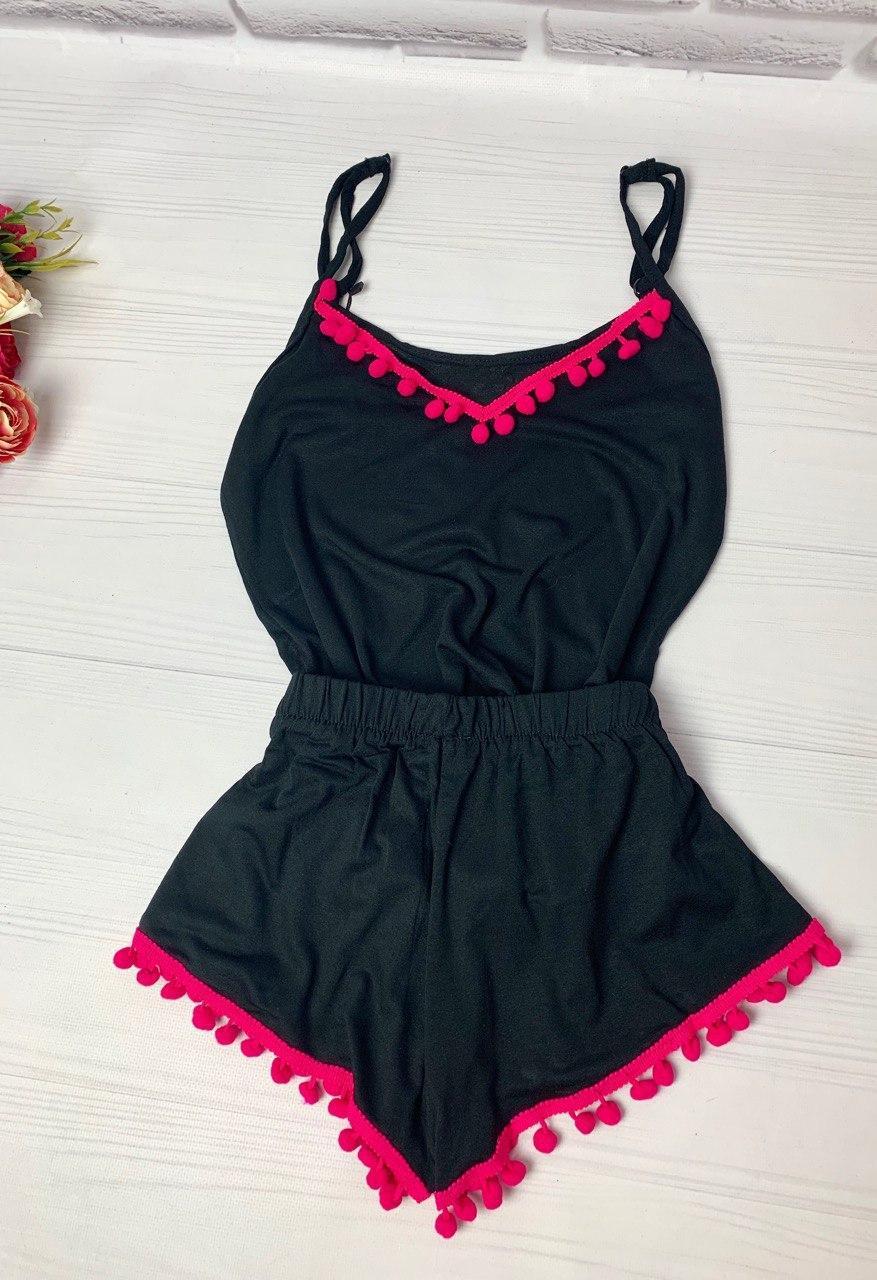 Пижама женская, в расцветках, с бубончиками, единый размер!!!