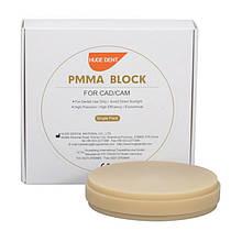 Диски PMMA (пластмасса) Ø 98мм для CAD/CAM систем HUGE (Китай), цвет CLEAR(прозрачный)