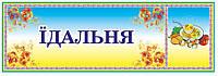 Табличка Столовая