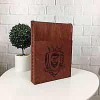 Оригинальный уголок потребителя из дерева с логотипом на заказ, фото 1