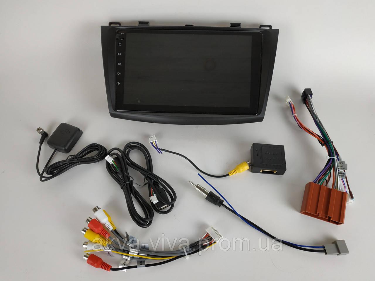 Штатная автомагнитола Mazda 3 2010-2012 на Android с хорошей звуковой настройкой (М-Мз3-9)