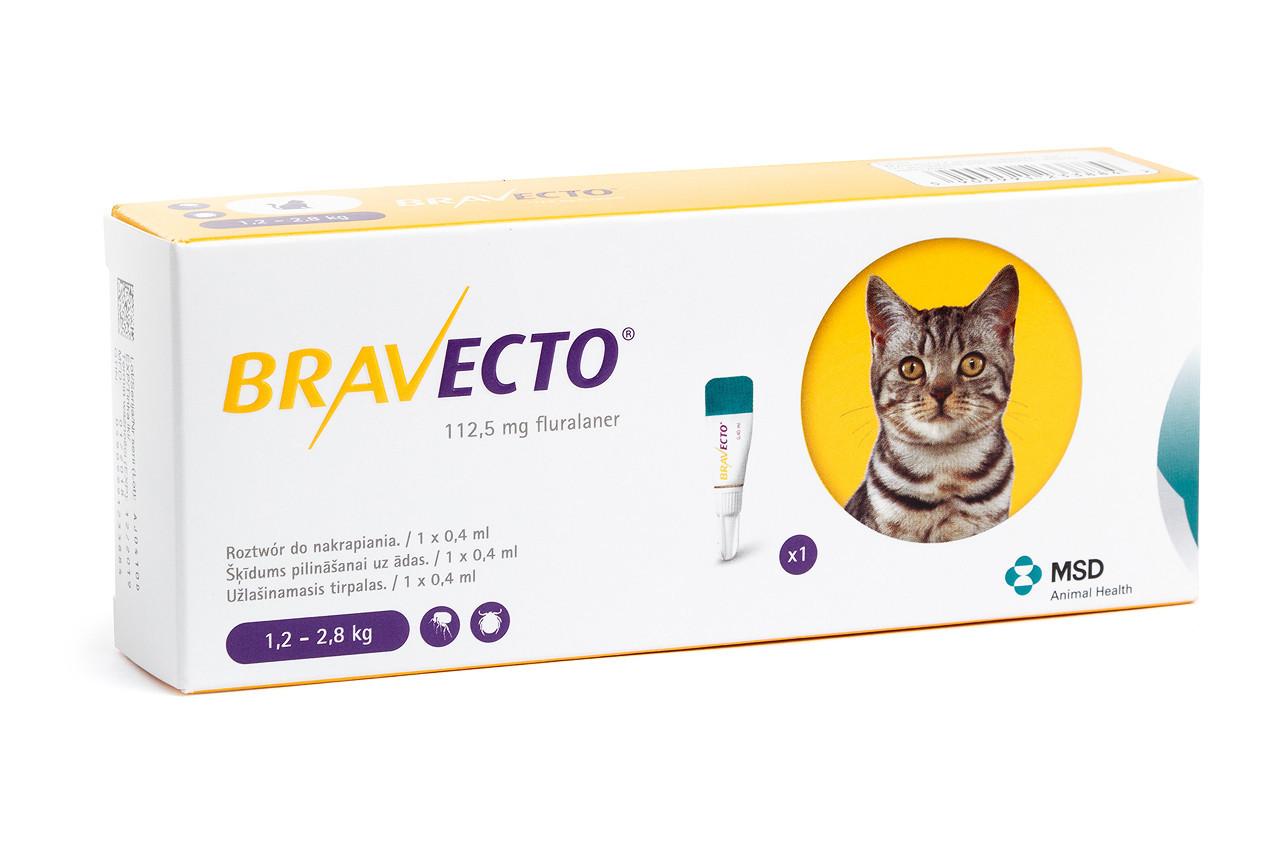 БРАВЕКТО Спот Он для кошек (1,2-2,8 кг) ОРИГИНАЛ!