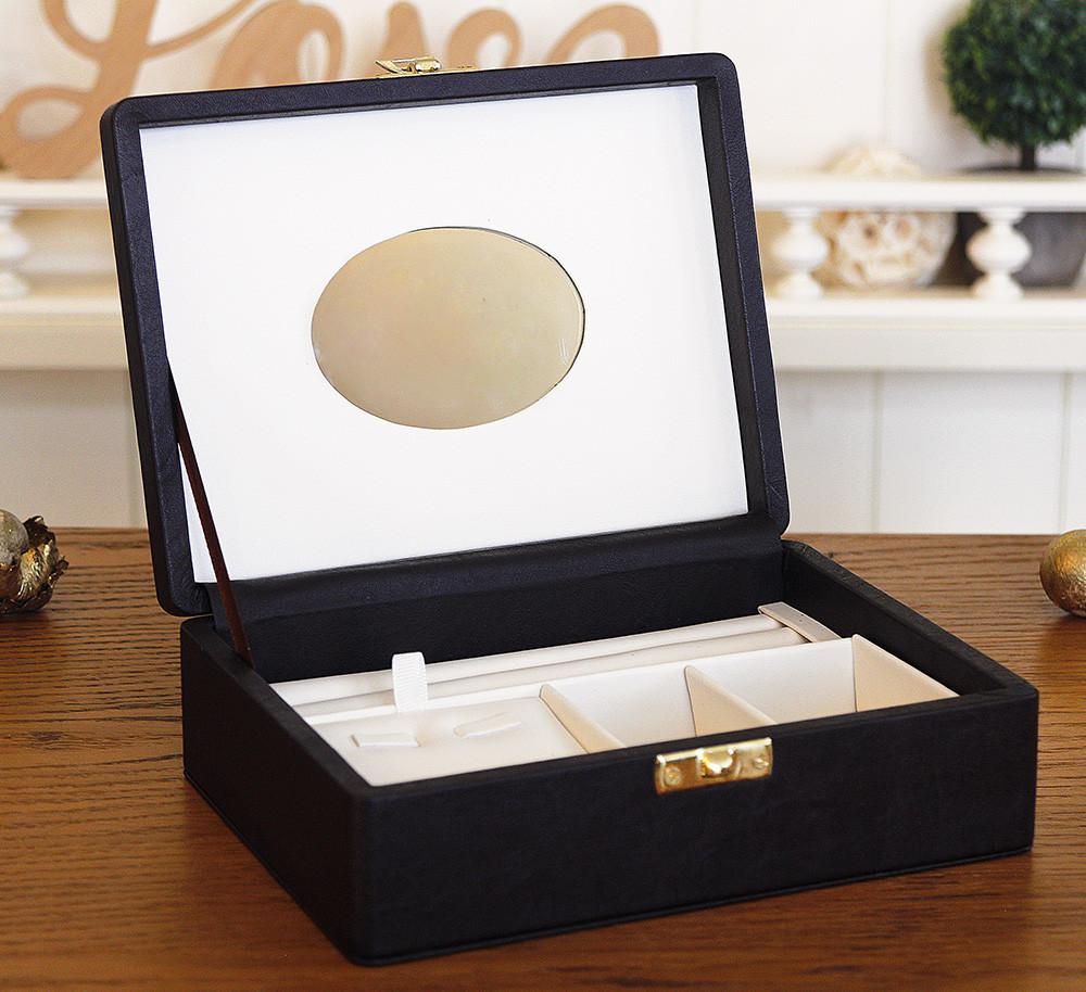 Шкатулка для хранения украшений 18*13*5,8 603432 коричневая