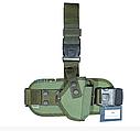 Кобура набедренная олива состоит из платформы и чехла под запасной магазин для пистолета ПМ, фото 2
