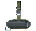 Кобура набедренная олива состоит из платформы и чехла под запасной магазин для пистолета ПМ, фото 3