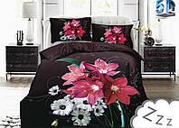 Комплект постельного белья Микроволокно HXDD-947 M&M 0934 Белый, Коричневый, Красный