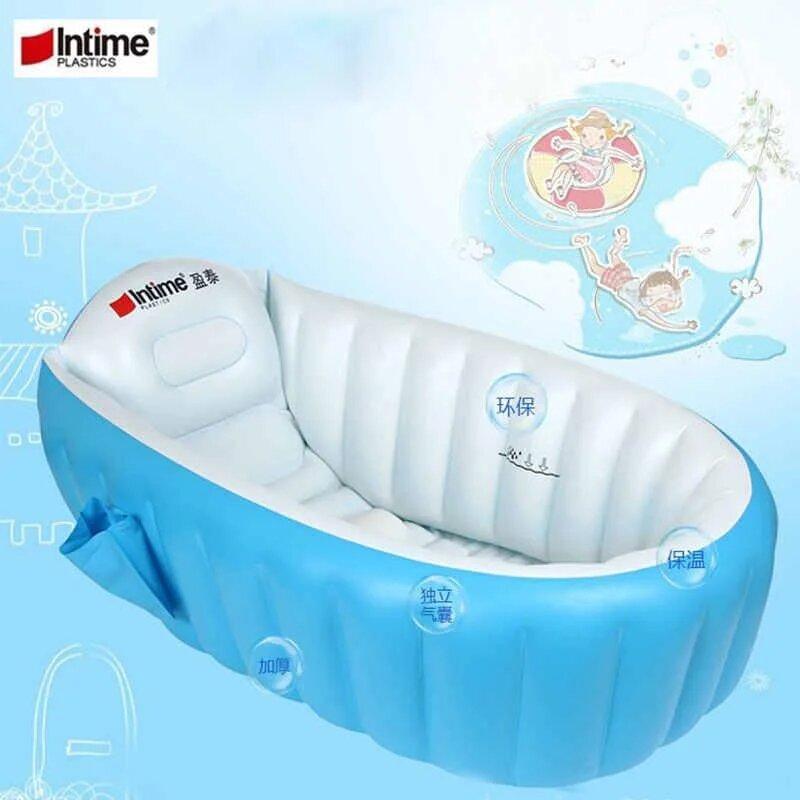 Надувная ванночка Intime Baby Bath Tub Голубая