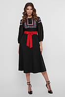 Платье вышиванка в черном цвете