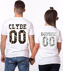 """Парные именные футболки """"CLYDE/BONNIE - Ammo and Money"""" [Цифры можно менять] (50-100% предоплата)"""