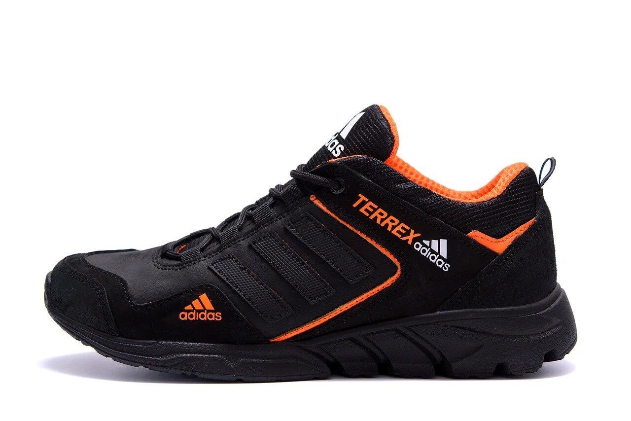 Чоловічі шкіряні кросівки Adidas Terrex Orange р. 40 41 42 43 44 45