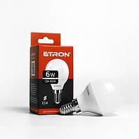 Лампа LED шарик ETRON G45 6W 3000K 220V E14 1-ELP-047