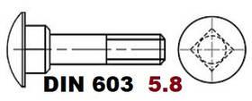 03.02 5.8 DIN 603 (Болт с полукруглой головкой и квадратным подголовником)
