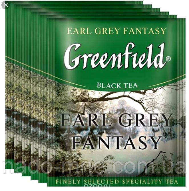 """Чай черный пакетированный Greenfield """"Earl Grey Fantasy"""" Бергамот 100шт HoReCa в полиэтиленовом пакете"""