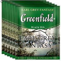 """Чай Greenfield чорний пакетований """"Earl Grey Fantasy"""" Бергамот 100шт HoReCa в поліетиленовому пакеті"""