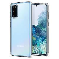 Чехол Spigen для Samsung Galaxy S20 Liquid Crystal, Crystal Clear (ACS00789)