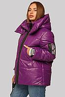 Стильный еврозима пуховик женская куртка с трикотажным поясом,  размер 42-50