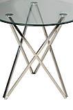 Круглый стеклянный стол на черных металлических ножках  D90, фото 2