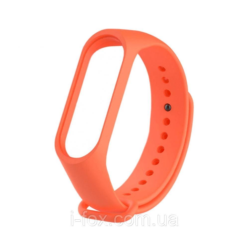 Ремешок браслет для Xiaomi Mi Band 4 (Сяоми Ми Бэнд 4) оранжевого цвета