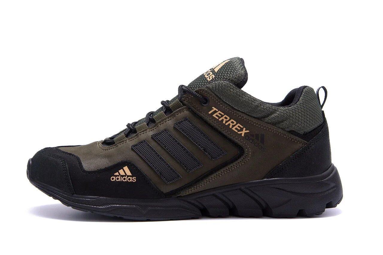 Мужские кожаные кроссовки  Terrex  Green р. 40 41 42 43 44 45