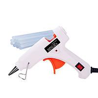 Пистолет клеевой с питанием от 220V HS-6502 30W, клей диаметром-7мм/11мм, White, Box