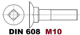 M10 03.01 DIN 10.9 608