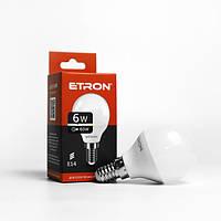Лампа LED шарик ETRON G45 6W 4200K 220V E14 1-ELP-048