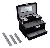 Шкатулка-органайзер для украшений с кодовым замком Vilado, черная, 50-582В, фото 2