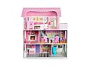 Деревянный домик для кукол, три этажа и мебель  MD 1204 ***, фото 2