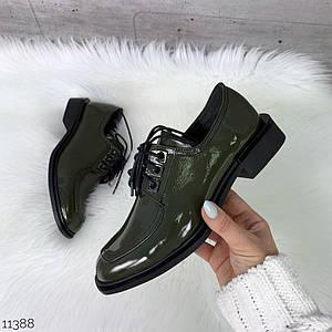 Туфли женские без каблука на шнурках