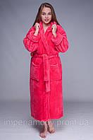 Шикарный женский длинный махровый халат (42-64)