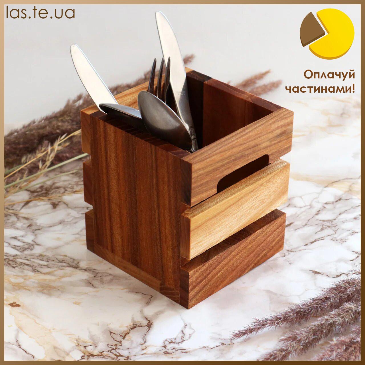 """Коробочка для столових приборів """"Кантрі Міні"""" Берест/Черешня Lasco 6205b-SCL"""