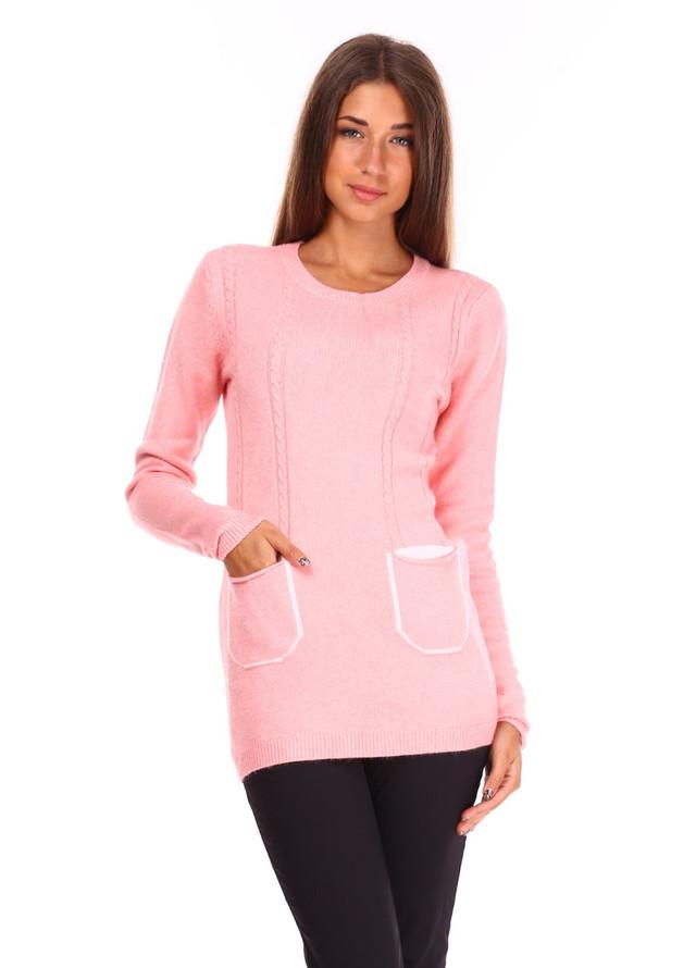 77a126c0ce0 Модная женская кофта красивой вязки с карманами в расцветках