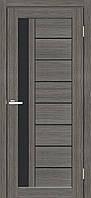 """Двері міжкімнатні ОМіС """"Cortex Deco 09"""" ЧС дуб aш + чорне скло модерн (600,700,800,900 мм)"""