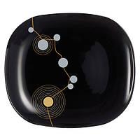 Тарелка десертная 190х210 мм Luminarc Sequins Black