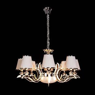 Современная классическая люстра на 8 лампочек СветМира с LED подсветкой рожков  D-9430/8