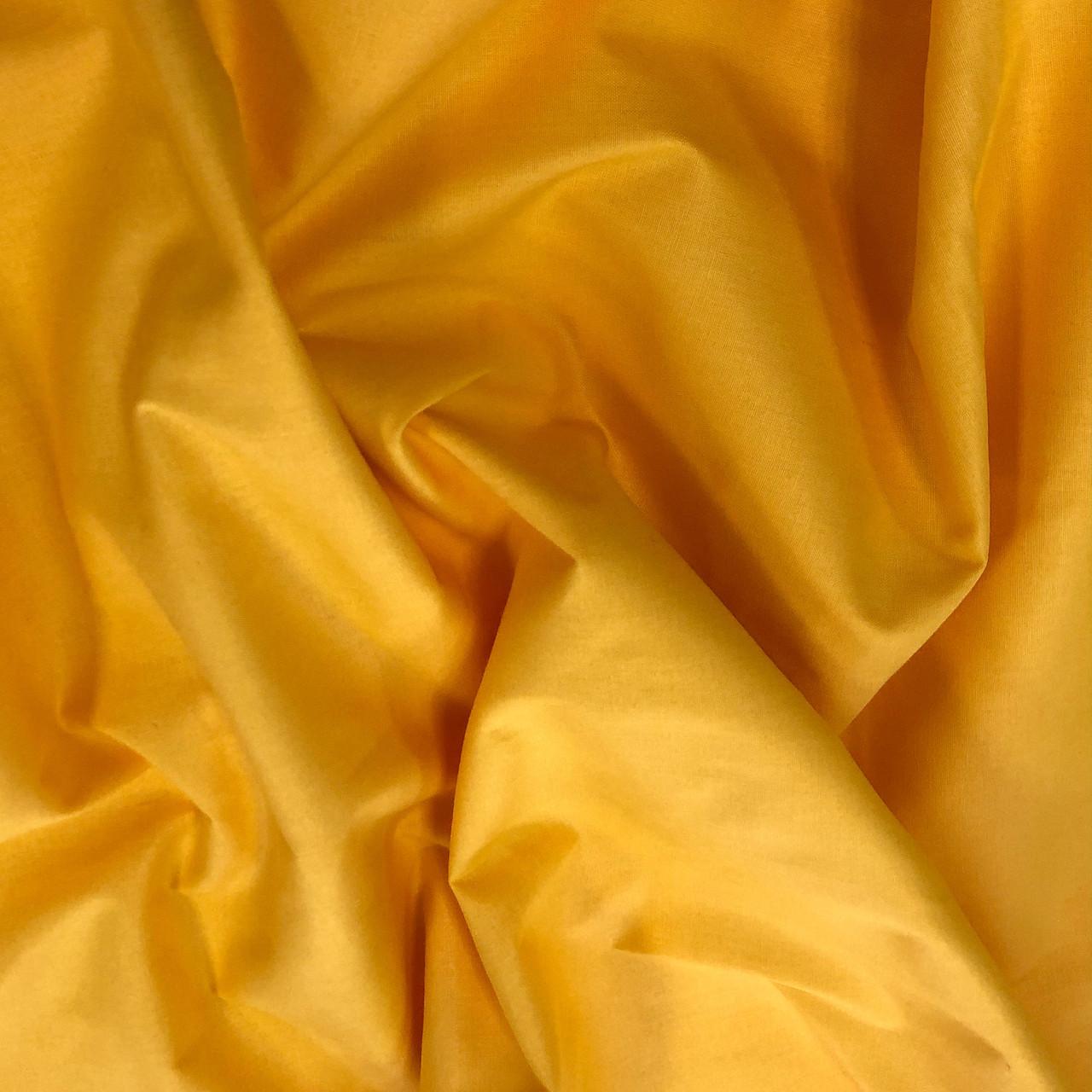 """Турецкая хлопковая ткань ранфорс """"Желтый"""" 240 см №22"""