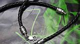 Кожаный плетенный шнур с крестом, фото 3