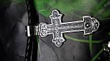 Кожаный плетенный шнур с крестом, фото 6