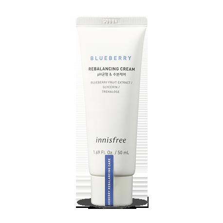 Балансирующий крем для лица с экстрактом черники Innisfree Super Food Blueberry Rebalancing Cream 50 мл (8809612877909)
