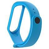 Ремешок браслет для Xiaomi Mi Band 4 (Сяоми Ми Бэнд 4) голубого цвета, фото 2