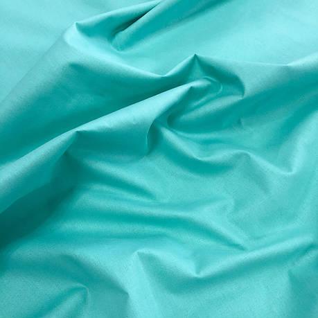 """Турецкая хлопковая ткань ранфорс """"мятный"""" 240 см №65, фото 2"""