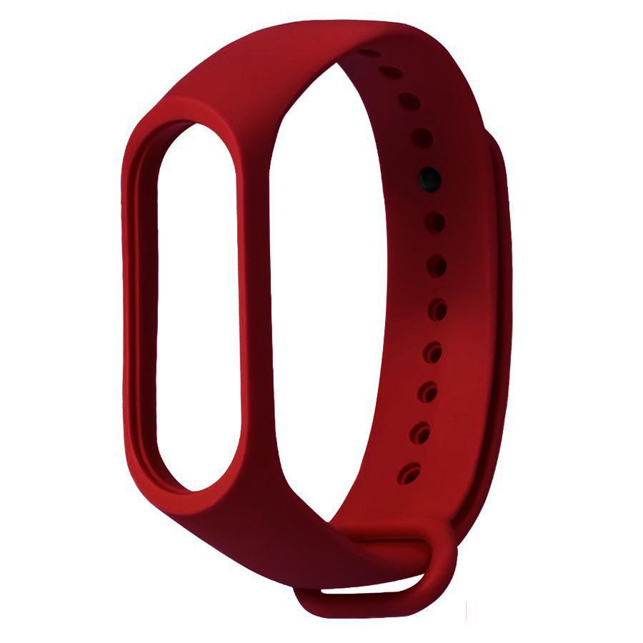 Ремешок для фитнес - трекера Xiaomi Mi Band 3/4 Бордовый