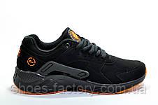 Кроссовки мужские в стиле Nike Air Huarache, Black\Orange, фото 3