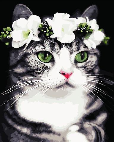Живопись по номерам Романтичная кошка ArtStory AS0720 40 х 50 см