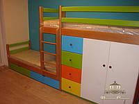Комплекс кроватей с мебелью для двоих деток!