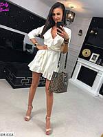 Короткое женское платье белого цвета, размеры: 42, 44, 46