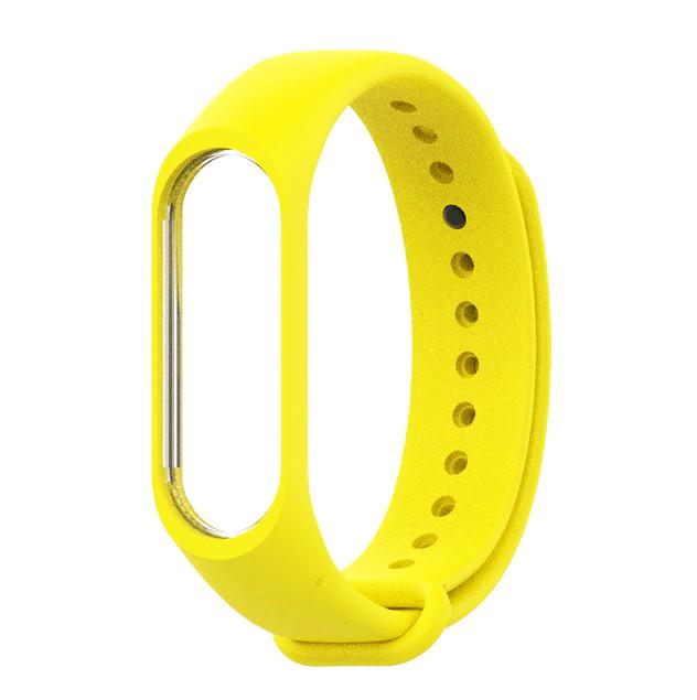 Ремешок для фитнес - трекера Xiaomi Mi Band 3/4 Желтый