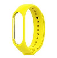 Ремешок для фитнес - трекера Xiaomi Mi Band 3/4 Желтый, фото 1