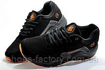 Подростковые кроссовки на мальчика в стиле Nike Air Huarache, Black\Orange, фото 3